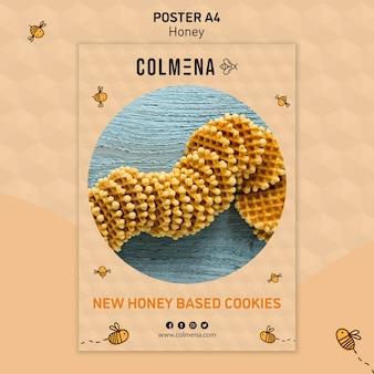 Modèle d'affiche magasin de miel