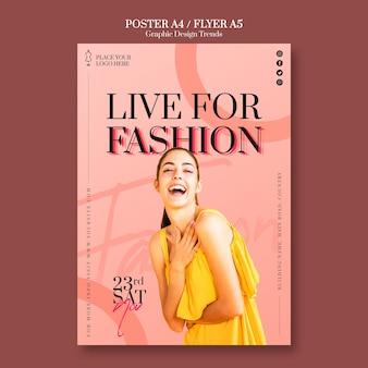 Modèle d'affiche de magasin de mode