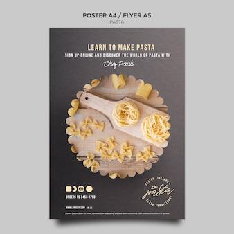 Modèle d'affiche de magasin de pâtes