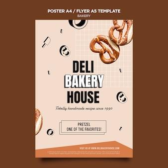 Modèle d'affiche de maison de boulangerie