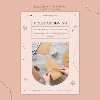 Modèle d'affiche de la maison de couture
