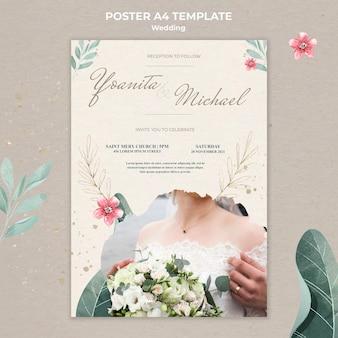 Modèle d'affiche de mariage