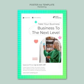 Modèle d'affiche de marketing d'entreprise