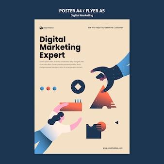 Modèle d'affiche de marketing numérique