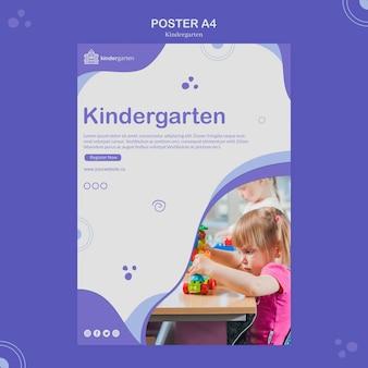 Modèle d'affiche de maternelle