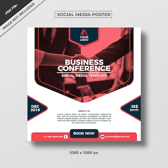 Modèle d'affiche de médias sociaux de style entreprise