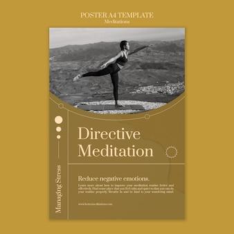 Modèle d'affiche de méditation directive