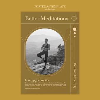 Modèle d'affiche de meilleures méditations