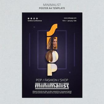 Modèle d'affiche minimaliste créatif