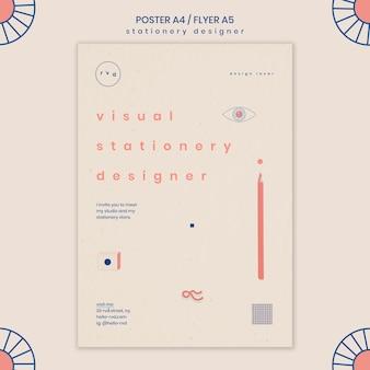 Modèle d'affiche minimaliste