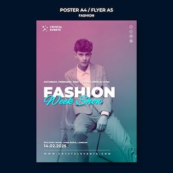 Modèle d'affiche de mode