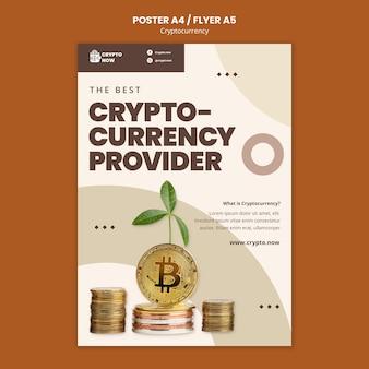 Modèle d'affiche de monnaie crypto