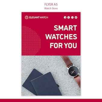 Modèle d'affiche de montres intelligentes pour vous