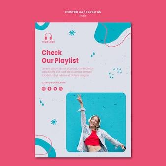 Modèle d'affiche de musique avec photo