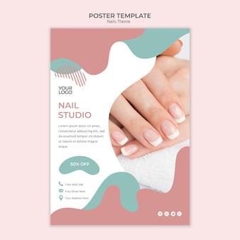 Modèle d'affiche nail studio