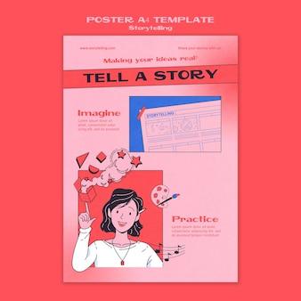 Modèle d'affiche de narration