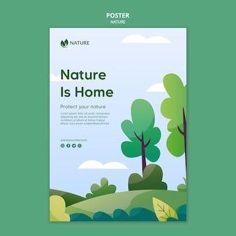 Modèle d'affiche la nature est la clé de la vie