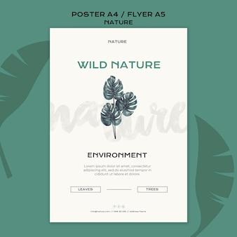 Modèle d'affiche de nature sauvage