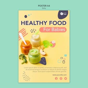 Modèle d'affiche de nourriture pour bébé