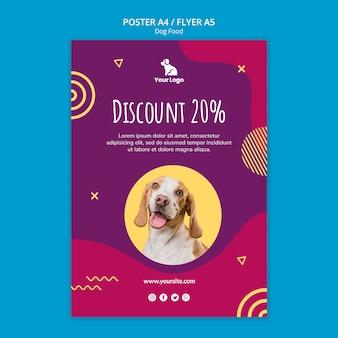 Modèle d'affiche nourriture pour chiens