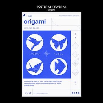 Modèle d'affiche en origami