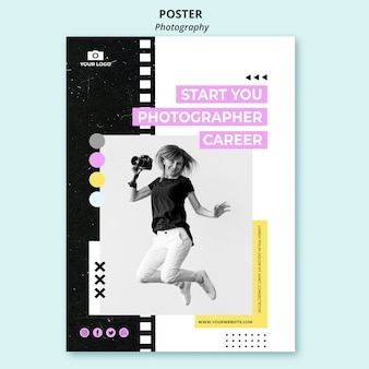 Modèle d'affiche de photographie créative