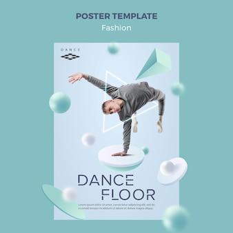 Modèle d'affiche de piste de danse