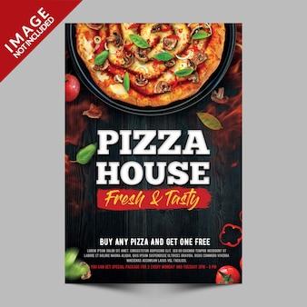 Modèle d'affiche de pizza house