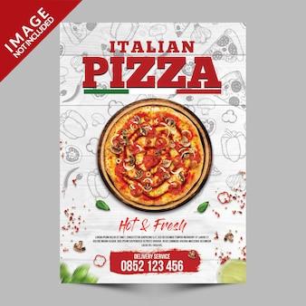 Modèle d'affiche de pizza italienne