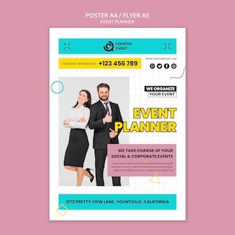 Modèle d'affiche de planificateur d'événements d'entreprise