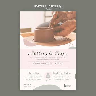 Modèle d'affiche de poterie