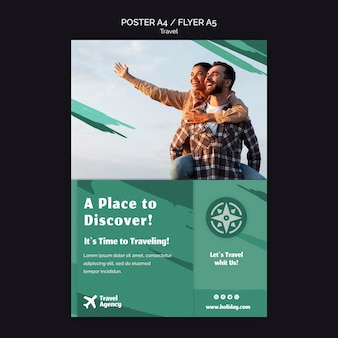 Modèle d'affiche pour agence de voyage