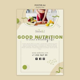 Modèle d'affiche pour une alimentation saine