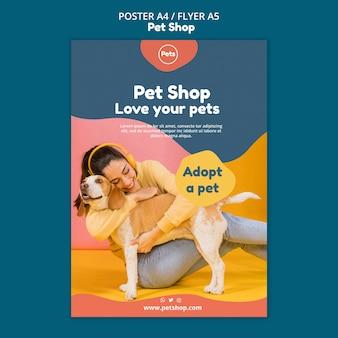 Modèle d'affiche pour animalerie