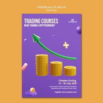 Modèle d'affiche pour la banque et la finance en ligne