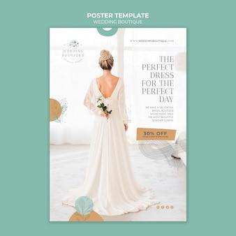 Modèle d'affiche pour une boutique de mariage élégante