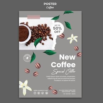 Modèle d'affiche pour le café