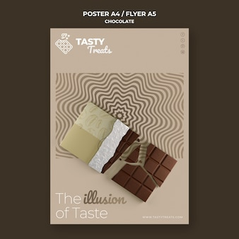 Modèle d'affiche pour le chocolat