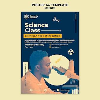 Modèle d'affiche pour la classe de sciences
