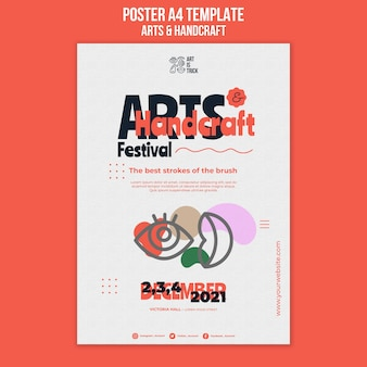 Modèle d'affiche pour le festival des arts et métiers