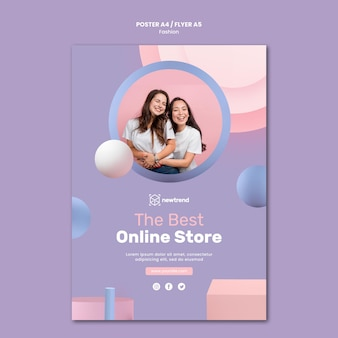 Modèle d'affiche pour magasin de vente au détail de mode