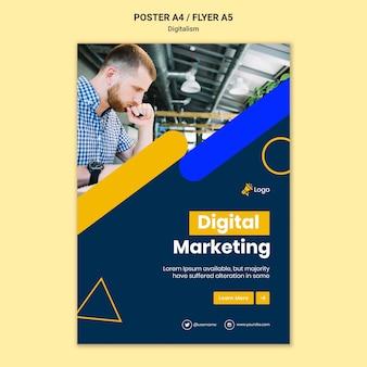 Modèle d'affiche pour le marketing numérique