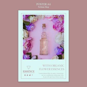 Modèle d'affiche pour le parfum