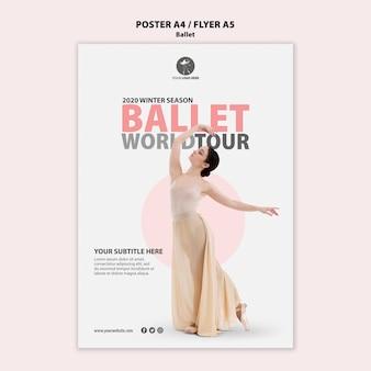 Modèle d'affiche pour la performance de ballet