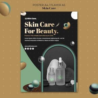 Modèle d'affiche pour les produits de soins de la peau