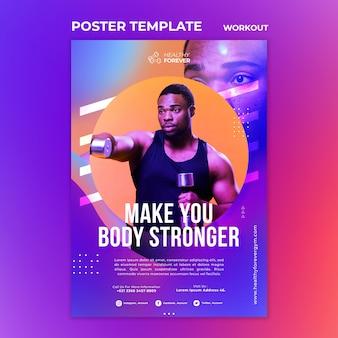 Modèle d'affiche pour rendre votre corps plus fort