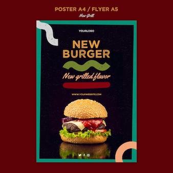 Modèle d'affiche pour restaurant de hamburgers