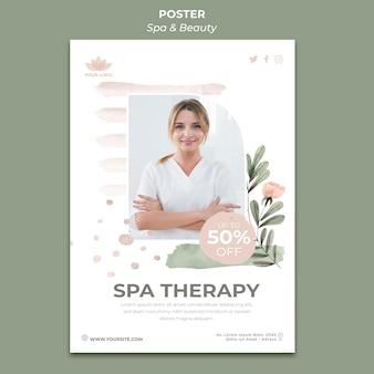 Modèle d'affiche pour spa et relaxation