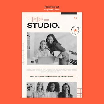 Modèle D'affiche Pour Studio D'entreprise Psd gratuit