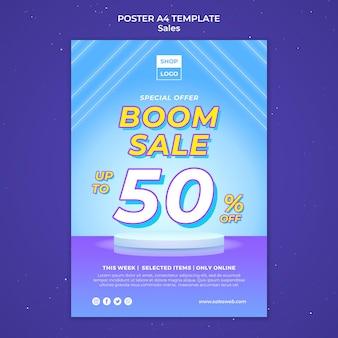 Modèle d'affiche pour super vente